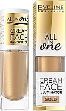 Парфюмерия и Козметика Кремообразен хайлайтър - Eveline Cosmetics All In One Cream Face Illuminator