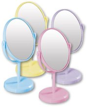 Парфюми, Парфюмерия, козметика Овално огледало на стойка 85710, розово - Top Choice Beauty Collection Mirror