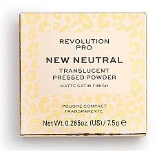 Парфюми, Парфюмерия, козметика Прозрачна пудра за лице - Revolution Pro New Neutral Translucent Pressed Powder
