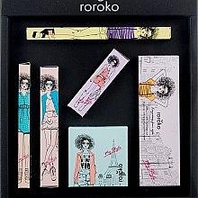 Парфюми, Парфюмерия, козметика Комплект за грим - Roroko Natural Nude Make-up Box (молив за вежди/0.4g + сенки/8g + очна линия/0.8g + руж/6g + спирала/8g + червило/3.5g)