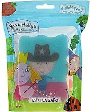 """Парфюмерия и Козметика Детска гъба за баня в цвят синьо и розово """"Малкото царство на Бен и Холи"""" - Suavipiel Ben & Holly Bath Sponge"""