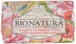 Парфюмерия и Козметика Сапун с екстракт от малини и коприва - Nesti Dante Bio Natura Bush Raspberry & Nettle Soap