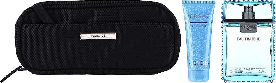 Versace Man Eau Fraiche - Комплект (тоал. вода/100ml + душ гел/100ml + bag) — снимка N3