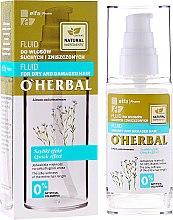 Парфюми, Парфюмерия, козметика Масло-флуид за суха и изтощена коса - O'Herbal