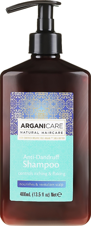 Шампоан против пърхот - Arganicare Shea Butter Anti-Dandruff Shampoo — снимка N1
