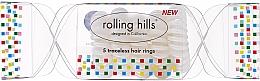 Парфюмерия и Козметика Ластици за коса, прозрачни - Rolling Hills 5 Traceless Hair Rings Cracker