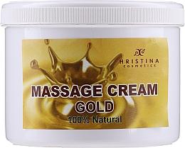 """Парфюмерия и Козметика Масажен крем за лице и тяло """"Злато"""" - Hristina Cosmetics Gold Massage Cream"""