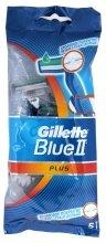 Парфюмерия и Козметика Комплект самобръсначки за еднократна употреба 5бр - Gillette Blue II Plus