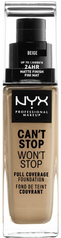 Фон дьо тен - NYX Professional Makeup Can't Stop Won't Stop Full Coverage Foundation
