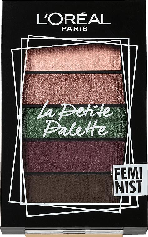 Палитра сенки за очи - L'Oreal Paris La Petite Palette Feminist Eyeshadow