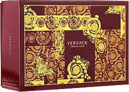 Парфюми, Парфюмерия, козметика Versace Crystal Noir - Комплект (edt/90ml + edt/10ml + чанта)