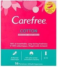 Парфюмерия и Козметика Ежедневни дамски превръзки със свеж аромат, 56 бр - Carefree Cotton Fresh