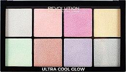 Парфюми, Парфюмерия, козметика Палитра хайлайтери за лице - Makeup Revolution Ultra Cool Glow