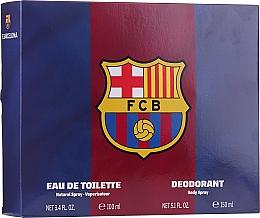 Парфюмерия и Козметика Air-Val International FC Barcelona - Комплект (тоал. вода/100ml + део/150ml)