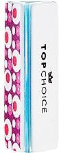 Пила за полиране на нокти, триъгълна, светло синя - Top Choice — снимка N2