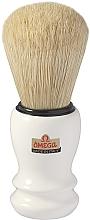 Парфюмерия и Козметика Четка за бръснене, 10108, бяла - Omega