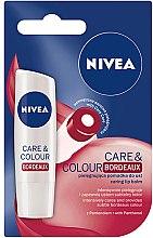 Парфюми, Парфюмерия, козметика Балсам за устни - Nivea Lip Care & Color Bordeaux