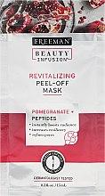 Парфюмерия и Козметика Възстановяваща маска за лице - Freeman Beauty Infusion Revitalizing Peel-Off Mask Pomegranate + Peptides (мини)