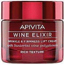 Парфюмерия и Козметика Лифтинг крем за лице с полифенолно вино Санторини - Apivita Wine Elixir Wrinkle And Firmness Lift Cream Rich Texture