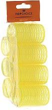 """Парфюмерия и Козметика Ролки за коса """"Velcro"""" 35мм, 7 бр., 0355 - Top Choice"""