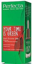 Парфюми, Парфюмерия, козметика Матиращ бустер за лице - Perfecta Your Time is Green