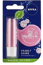"Парфюмерия и Козметика Балсам за устни ""Pearl Glow"" - Nivea Lip Care Pearl & Shine Limited Edition"