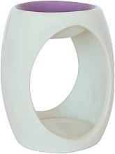 Парфюмерия и Козметика Керамична арома лампа, бяла с лилав връх - Airpure