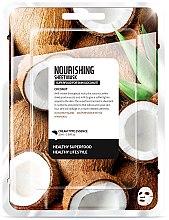 """Парфюми, Парфюмерия, козметика Памучна маска за лице """"Кокос"""" - Farmskin Superfood For Skin Nourishing Sheet Mask"""
