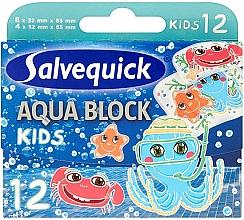 Парфюмерия и Козметика Детски пластири - Salvequick Aqua Block Kids Slices