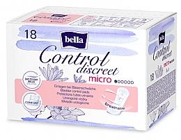 Парфюмерия и Козметика Урологични дамски превръзки, 18 бр. - Bella Control Discreet Micro Bladder Control Pads