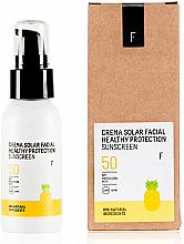 Парфюмерия и Козметика Слънцезащитен крем за лице SPF 50 - Freshly Cosmetics Healthy Protection Facial Sun Cream