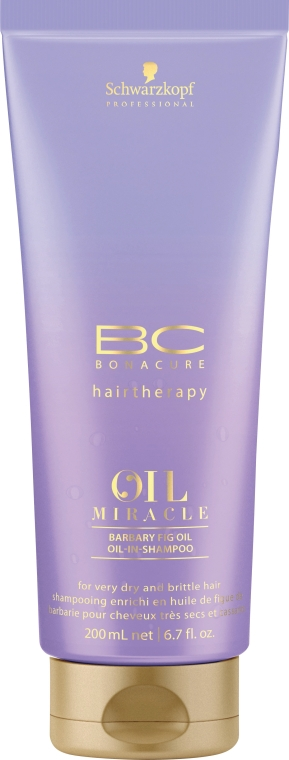 Регенериращ шампоан с масло и кератин - Schwarzkopf Professional Bonacure Oil Miracle Barbary Fig Oil Shampoo
