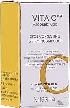 Парфюмерия и Козметика Антистареещ серум за лице с витамин С - Missha Vita C Plus Spot Correcting & Firming Ampoule (мини)