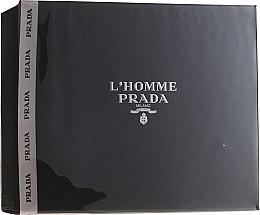 Парфюмерия и Козметика Prada L'Homme Prada - Комплект (edt/50ml + sh/g/100ml)