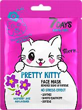"Парфюмерия и Козметика Маска за лице ""Сладко коте"" - 7 Days Animal Pretty Kitty"