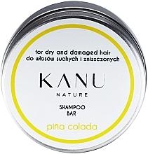 Парфюмерия и Козметика Шампоан за суха и изтощена коса в метална кутия - Kanu Nature Shampoo Bar Pina Colada For Dry And Damaged Hair
