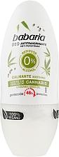 Парфюмерия и Козметика Рол-он дезодорант с канабис - Babaria Cannabis Deodorant Roll-on