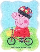 """Парфюми, Парфюмерия, козметика Детска гъба за баня """"Прасето Пепа"""", Пепа на колело - Suavipiel Peppa Pig Bath Sponge"""