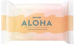 Парфюмерия и Козметика Натурален сапун с аромат на праскова - Oh!Tomi Aloha Peach Hibiscus Soap