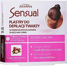 Парфюмерия и Козметика Депилиращи восъчни ленти с арганово масло за лице - Joanna Sensual Depilatory Face Strips
