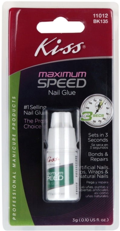 Лепило за нокти 3 секунди - Kiss Maximum Speed Nail Glue — снимка N1