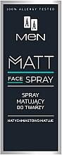 Парфюмерия и Козметика Матиращ спрей за лице за мъже - AA Men Matt Face Spray
