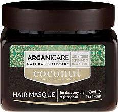 Парфюмерия и Козметика Възстановяваща маска за коса с кокосово масло - Arganicare Coconut Hair Masque For Dull, Very Dry & Frizzy Hair