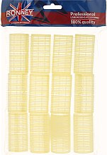 Парфюми, Парфюмерия, козметика Велкро ролки за коса 32/63, жълти - Ronney Professional Velcro Roller