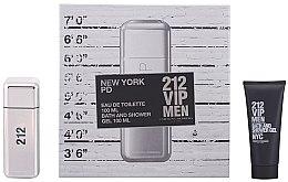 Парфюми, Парфюмерия, козметика Carolina Herrera 212 VIP Men - Комплект (тоал. вода/100ml + душ гел/100ml)