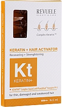 Парфюмерия и Козметика Активатор за коса - Revuele Keratin+ Ampoules Hair Restoration Activator