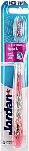 Парфюми, Парфюмерия, козметика Четка за зъби medium, розова с принт - Jordan Individual Reach Toothbrush