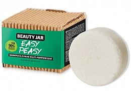 Парфюми, Парфюмерия, козметика Шампоан за коса и брада - Beauty Jar Easy Peasy Shampoo & Shave Multi-Purpose Bar