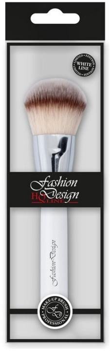 Четка за пудра, 37177 - Top Choice Fashion Design White Line — снимка N1