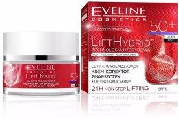 Парфюми, Парфюмерия, козметика Подхранващ крем против бръчки - Eveline Cosmetics Lift Hybrid 50+